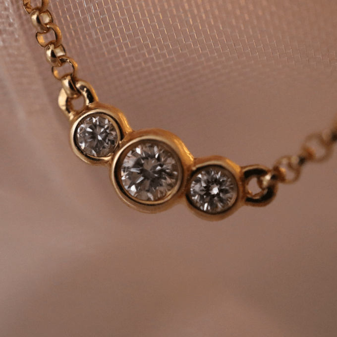 Collier mit Brillanten